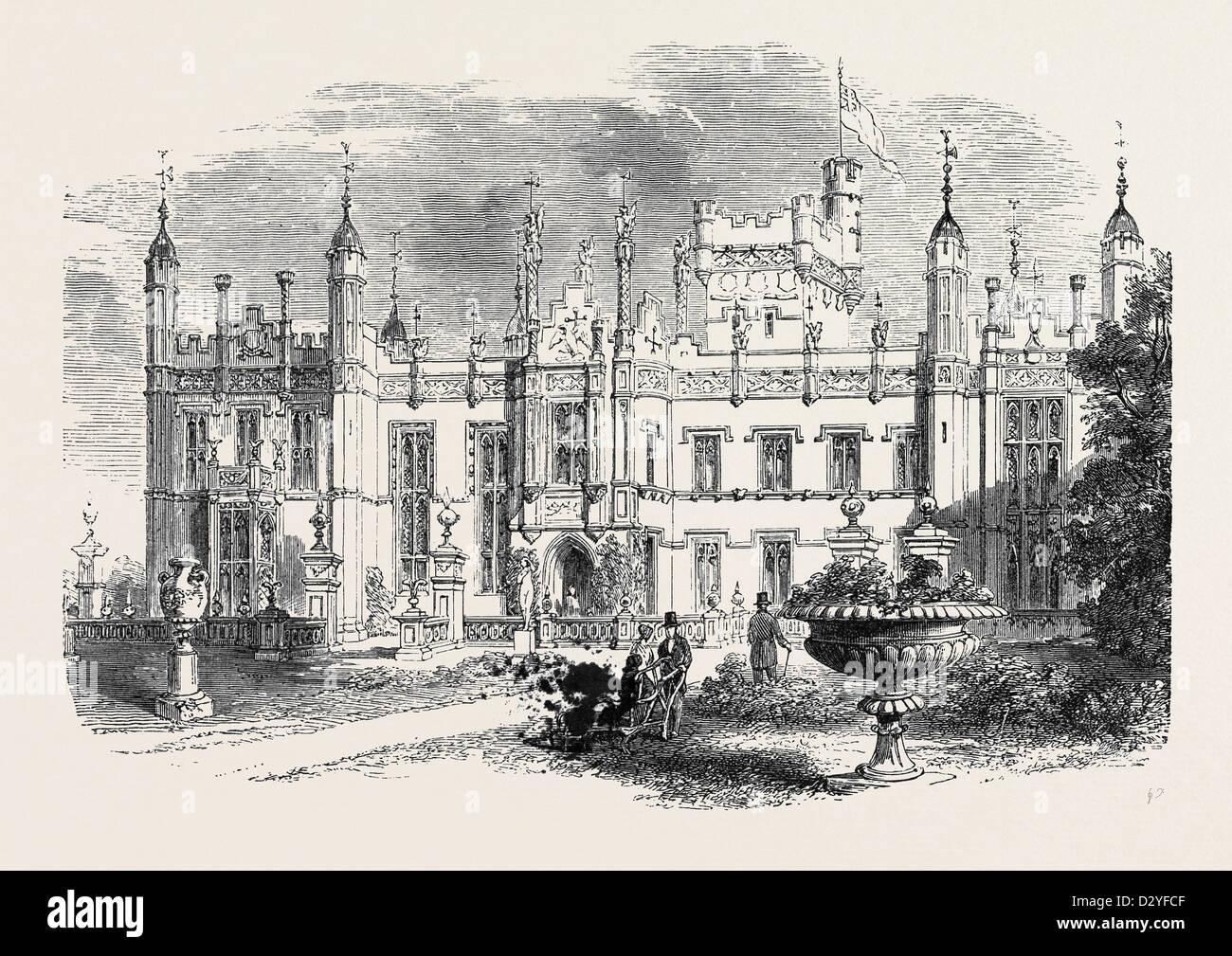 KNEBWORTH HERTFORDSHIRE SITZ DES VERSTORBENEN LORD LYTTON 1873 Stockfoto