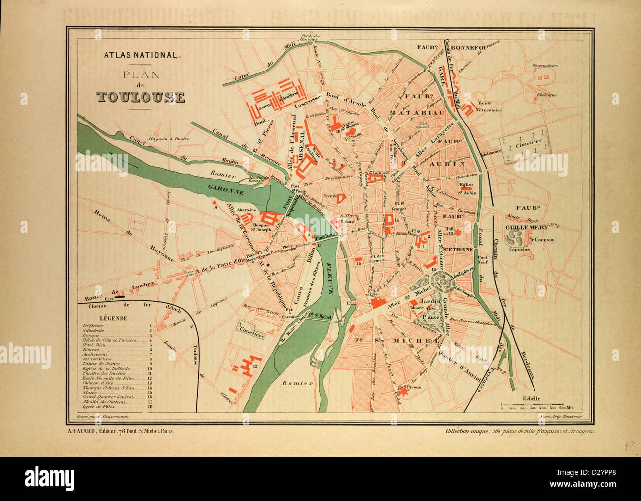 Toulouse Karte.Toulouse Karte Stockfotos Toulouse Karte Bilder Alamy