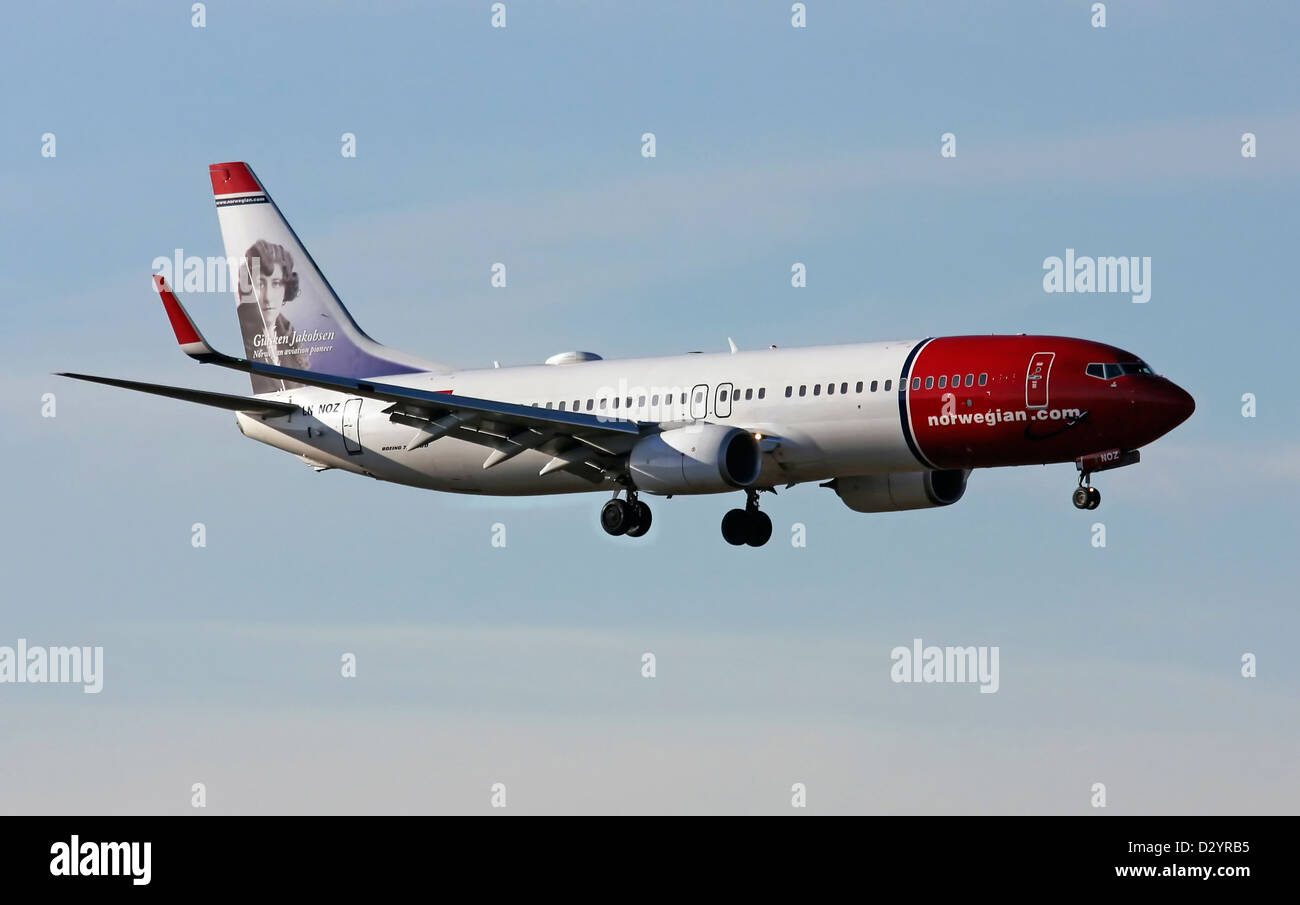 Norwegian Air Shuttle, Boeing 737-8JP(WL) Stockbild