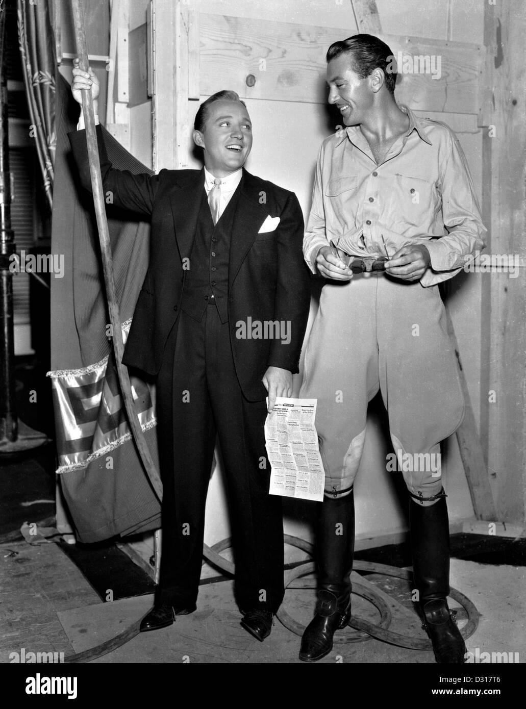 Bing Crosby, Gary Cooper Stockbild
