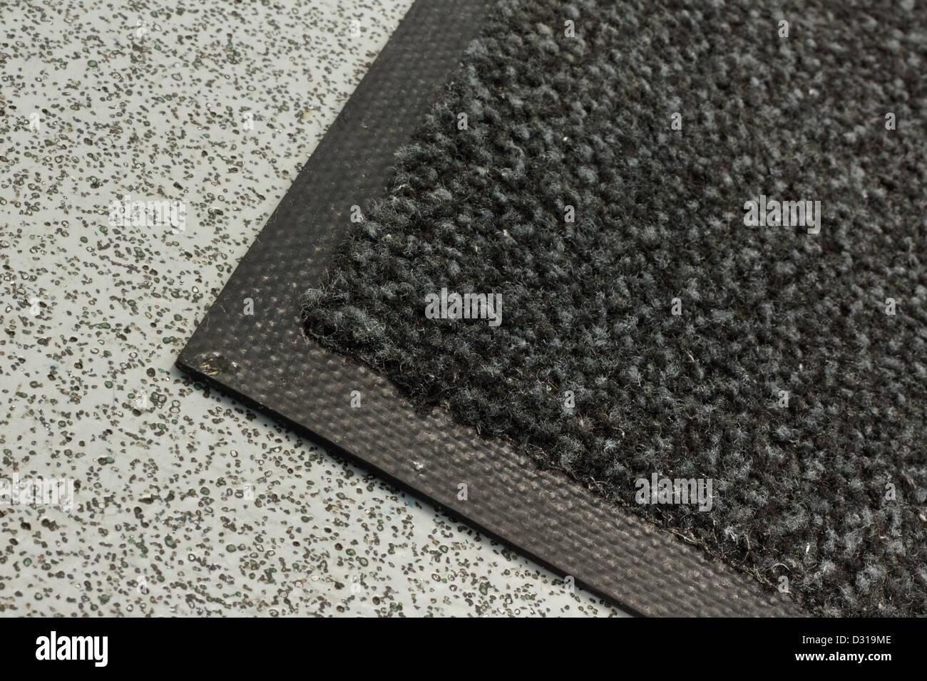 Industriestaub Mat in Büros und Lagerhallen oder gewerbliche Gebäude verwendet Stockbild