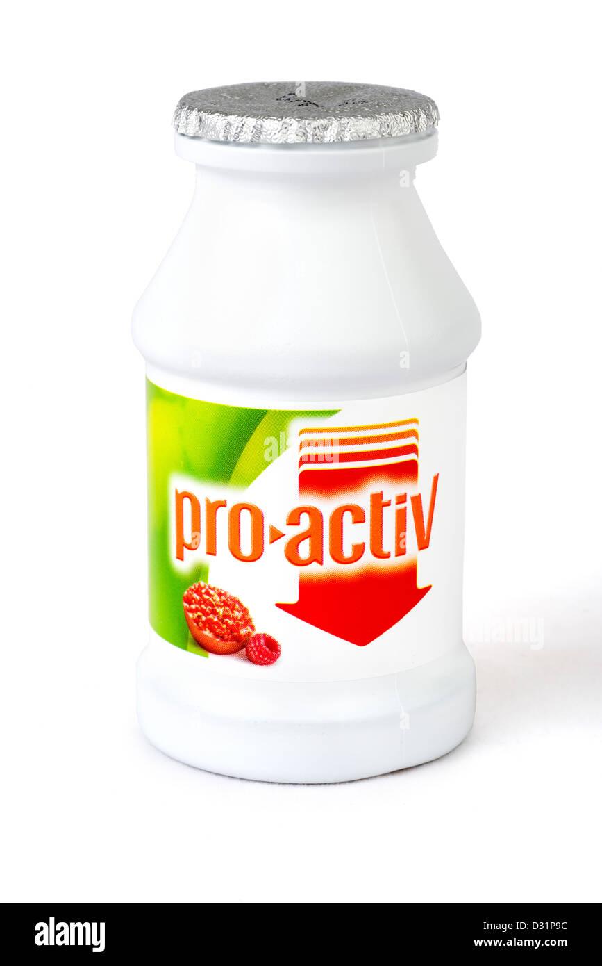 Flora proaktive Cholesterin-senkende Getränk Stockbild