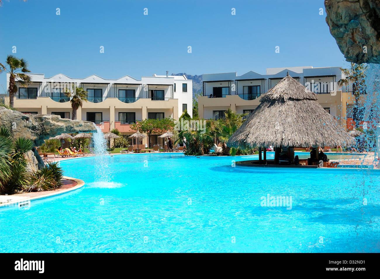 Pool Mit Bar Im Modernen Luxushotel Insel Thassos Griechenland