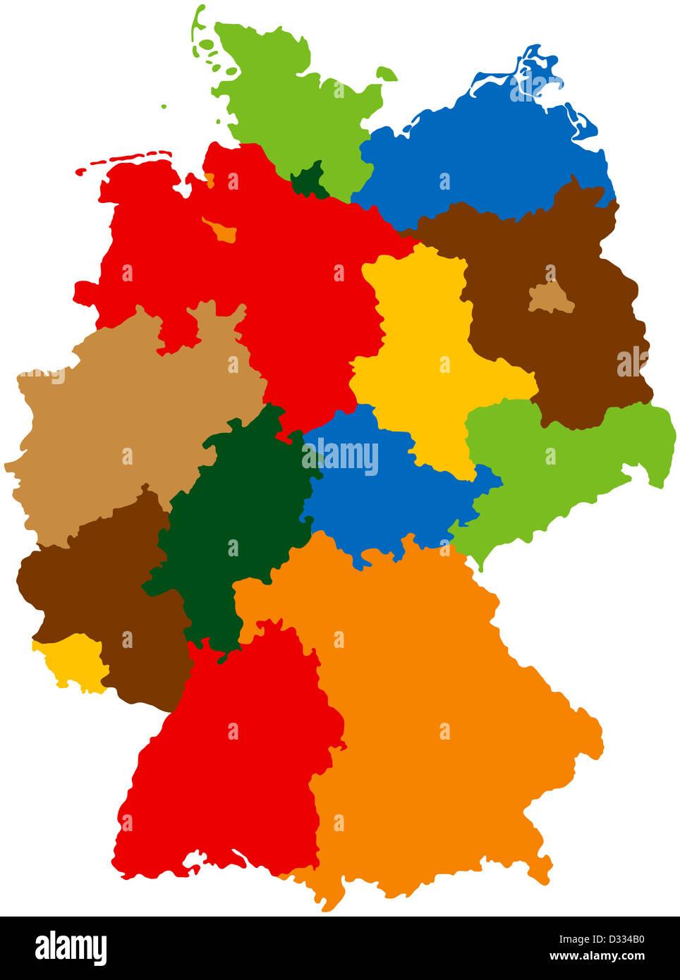 Karte Nordrhein Westfalen Bundesland Stockfotos Karte Nordrhein
