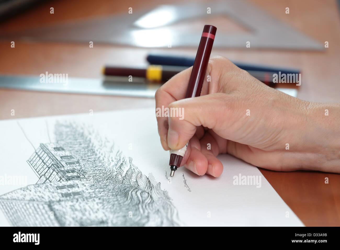 Architektur zeichnen lernen 9 - YouTube