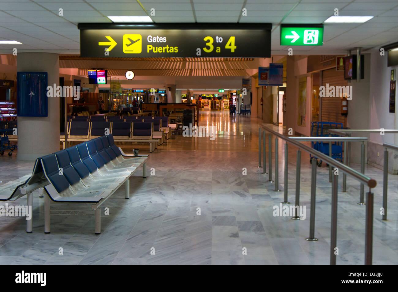 Arricife Flughafen Lanzarote Kanarische Inseln Stockbild