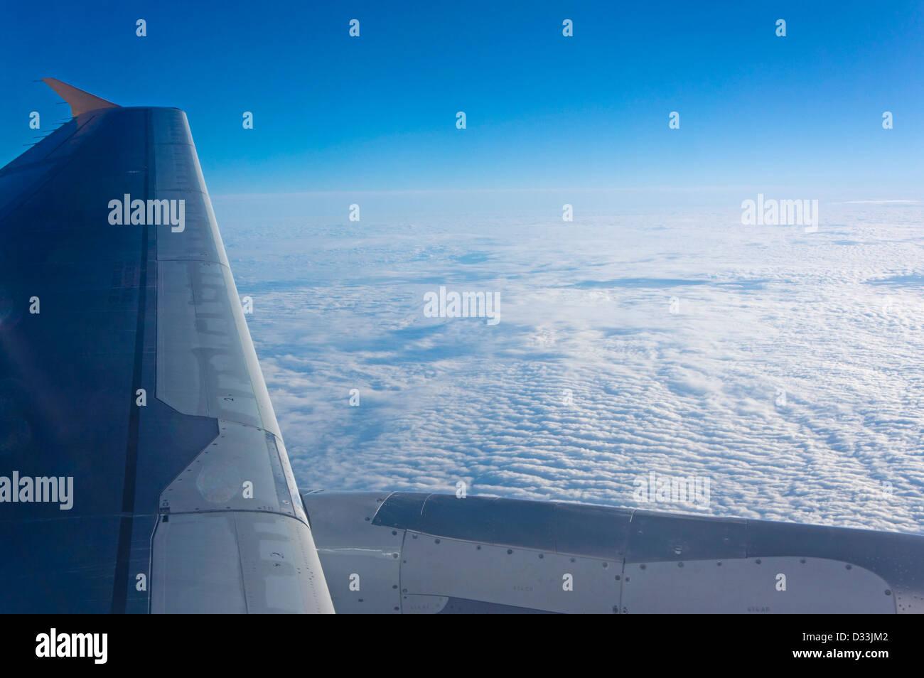 Manchester Flughafen und Flug nach Lanzarote Stockbild