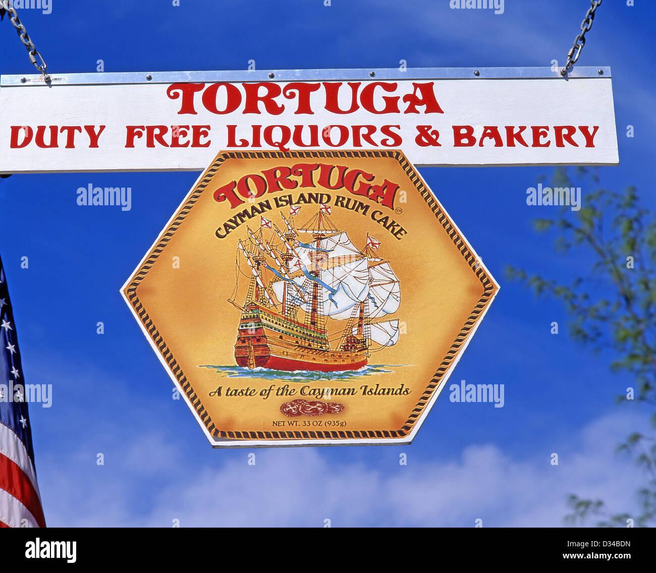 Bäckerei Tortuga Rum Kuchen Zu Unterzeichnen, In George Town, Grand Cayman,  Cayman Inseln, Große Antillen Karibik