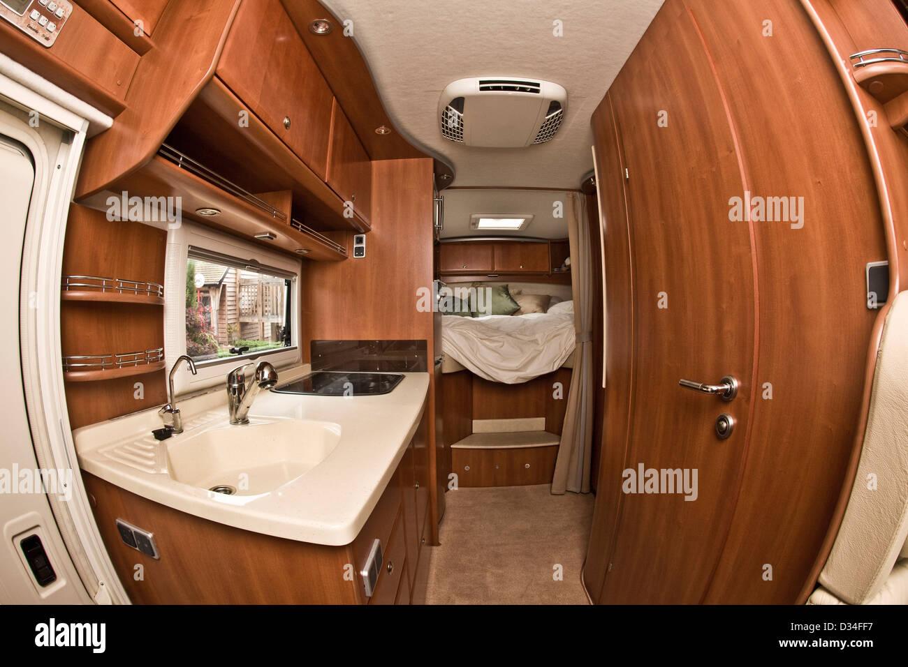 Wohnräume in der Concorde-Luxus-Wohnmobil Stockfoto, Bild: 53575067 ...