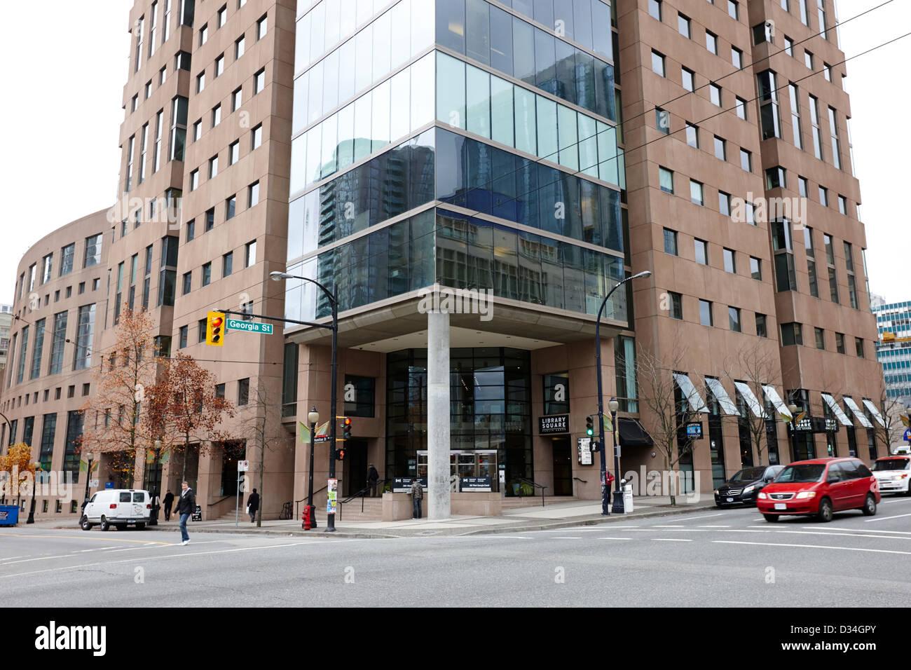 Vancouver Public Library Bundesamt Turm BC Kanada Stockbild