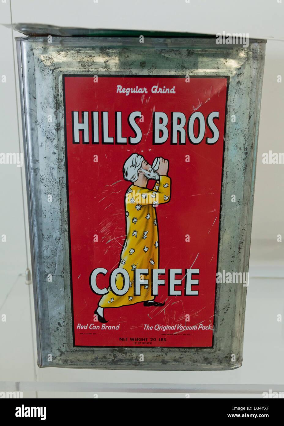 Vintage Hills Kaffeedose Bros 20 lbs Stockbild