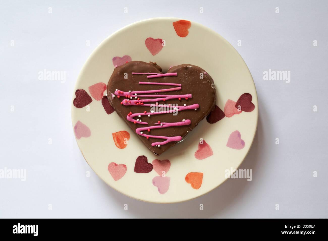 Valentinstag Schokolade Herz Kuchen Kuchen In Herzform Auf Herzen