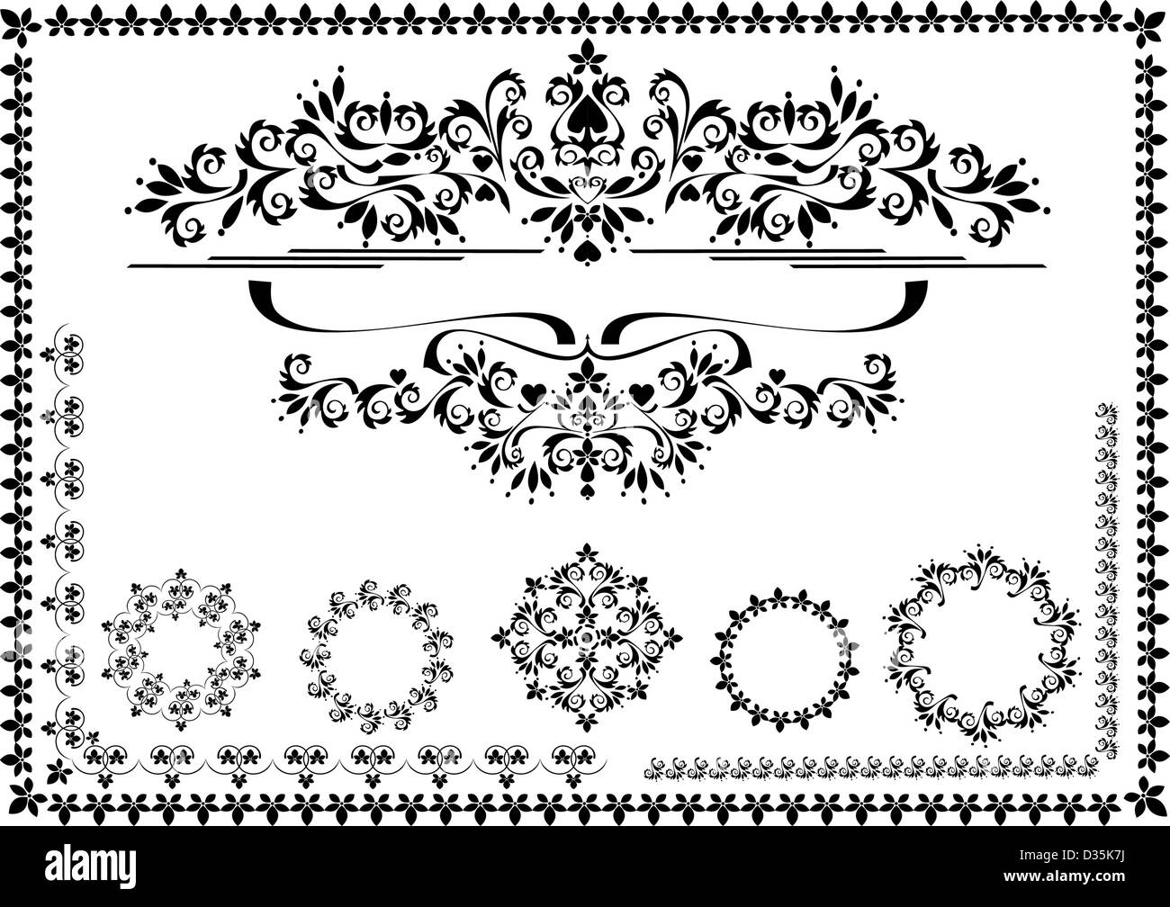 Dekorative ornament Rand, Rahmen. Graphic Arts Stockbild
