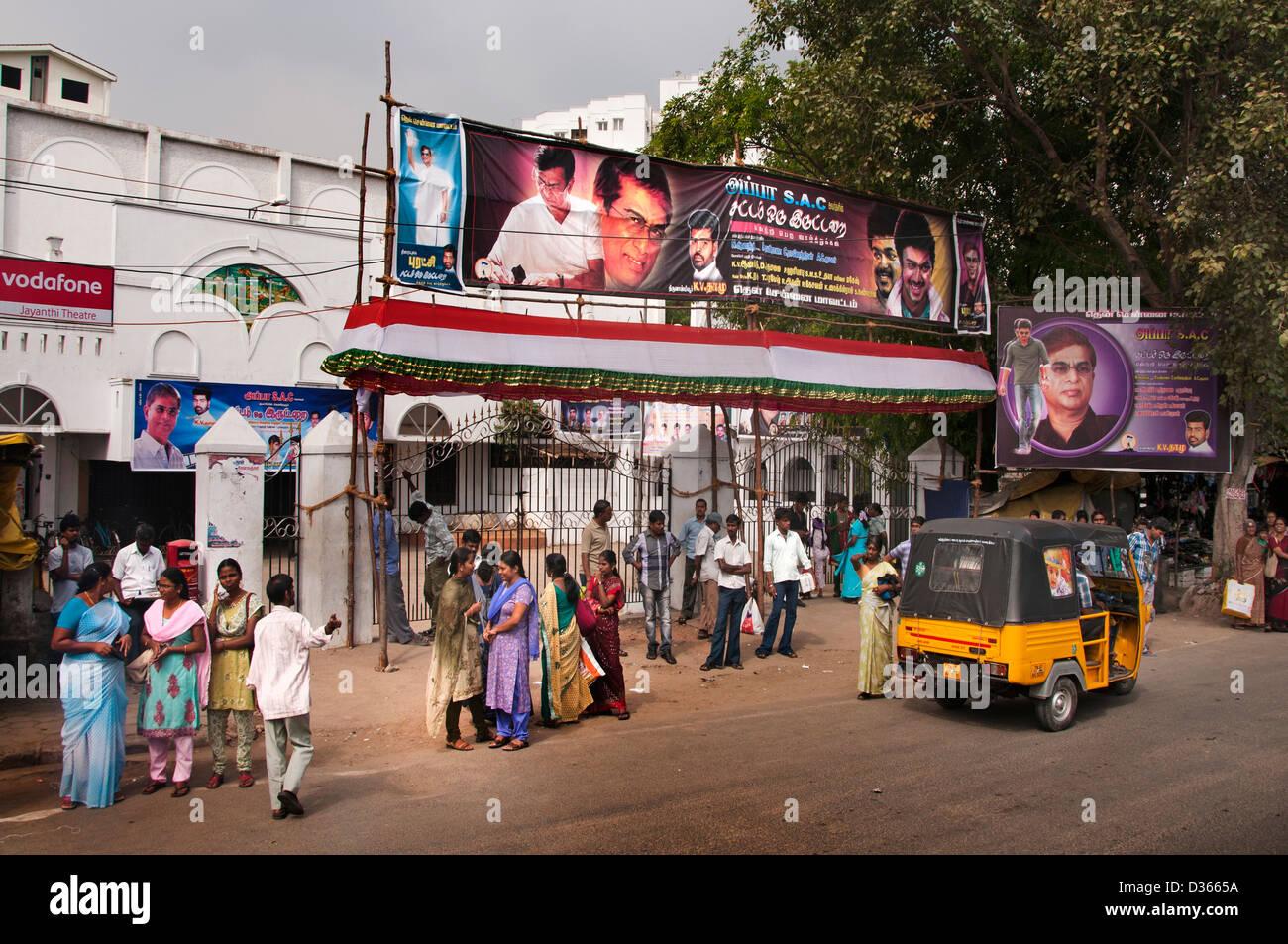 Chennai (Madras) Indien Tamil Nadu Bollywood Indien Film Film Bilder Filme Stockbild