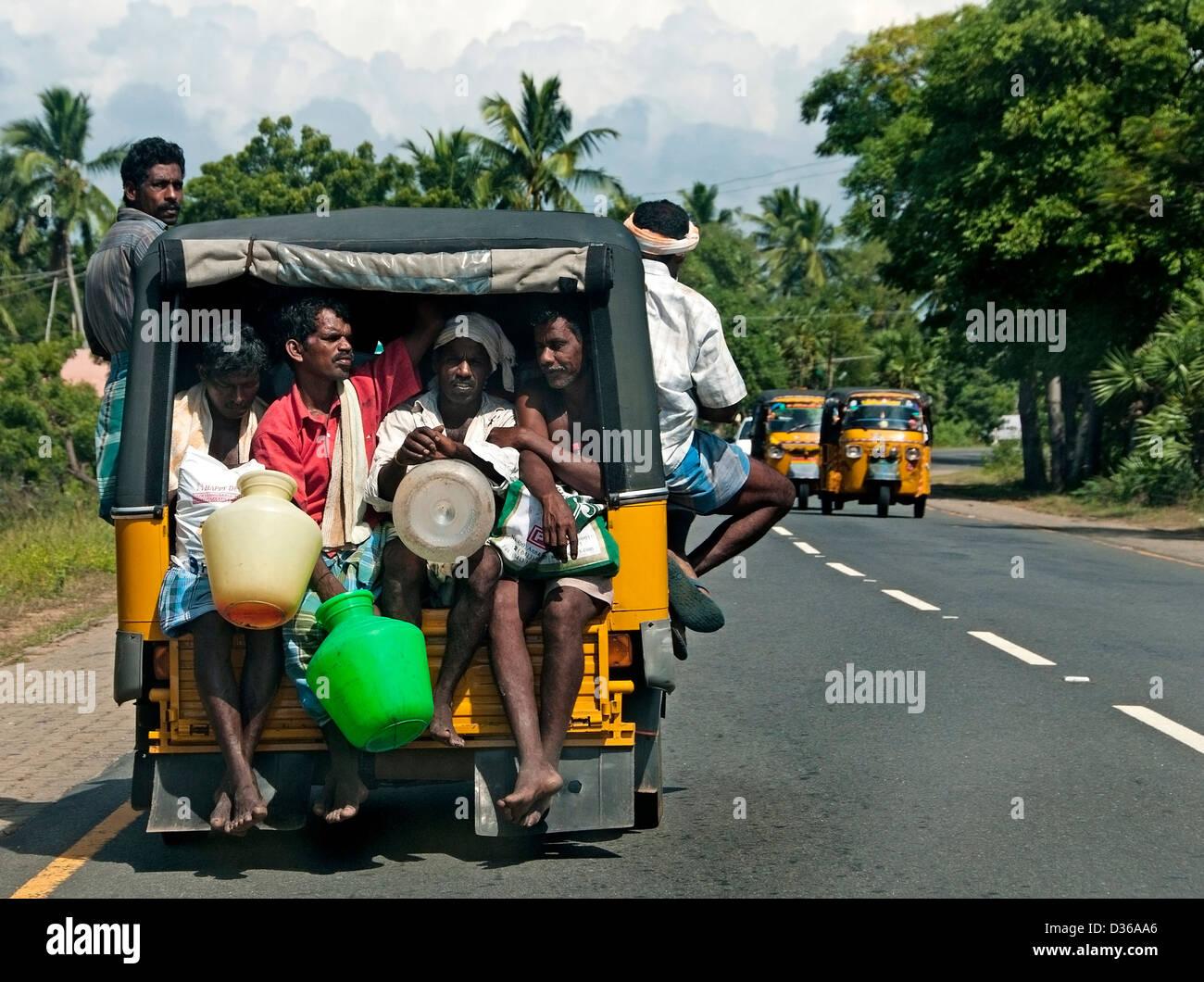 Chennai (Madras) Indien Tamil Nadu Rei Wheeler Tuk tuk Stockbild