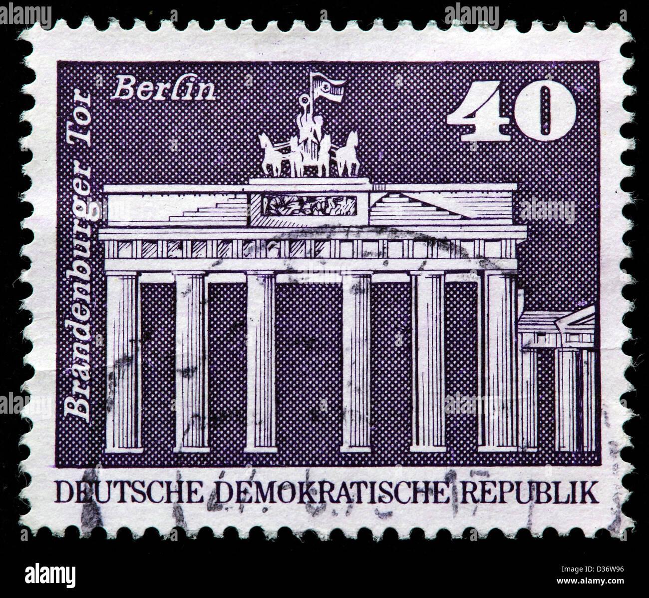 Brandenburger Tor Berlin Briefmarke Deutschland 1973 Stockfoto