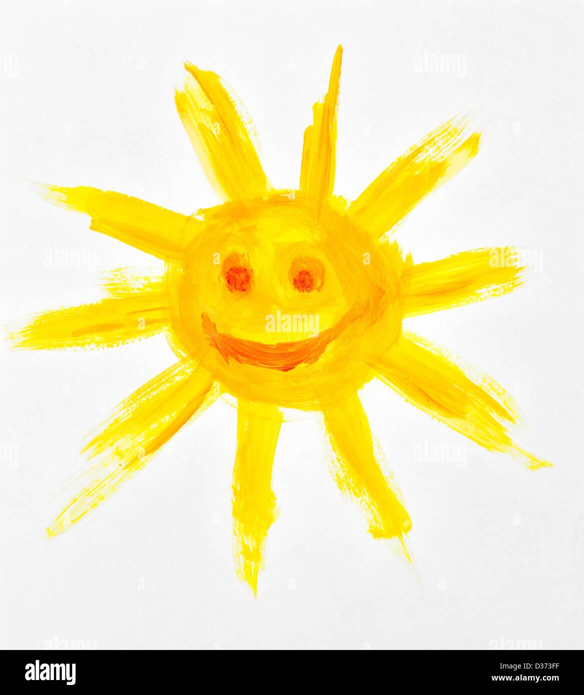 Kinder malen die Sonne Stockfoto, Bild: 53631523 - Alamy