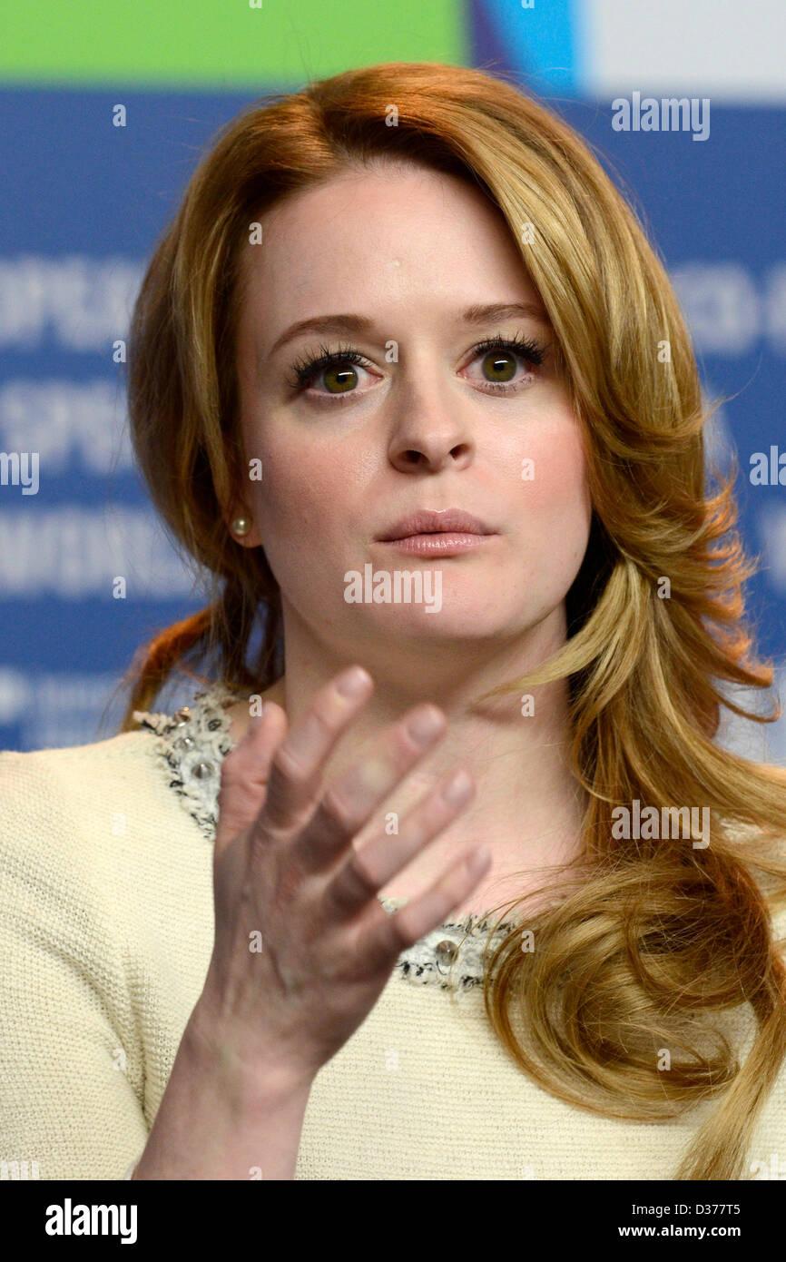 """Schauspielerin Fallon Goodson während der """"Krankheiten"""" Prerss Konferenz auf der 63. Internationalen Stockbild"""