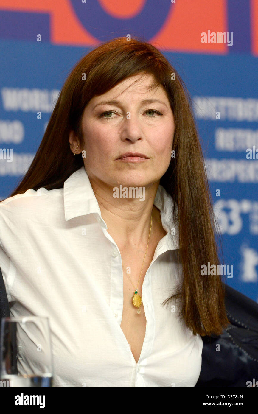 """Schauspielerin Catherine Keener während der """"Krankheiten"""" Prerss Konferenz auf der 63. Internationalen Stockbild"""