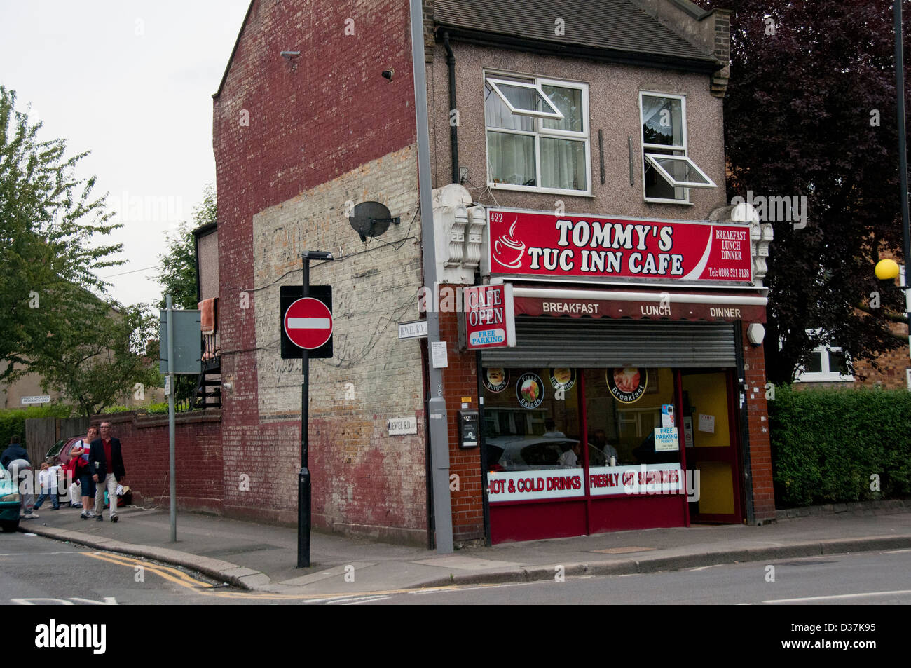 Altmodische Corner Cafe in Nord-London Stockbild