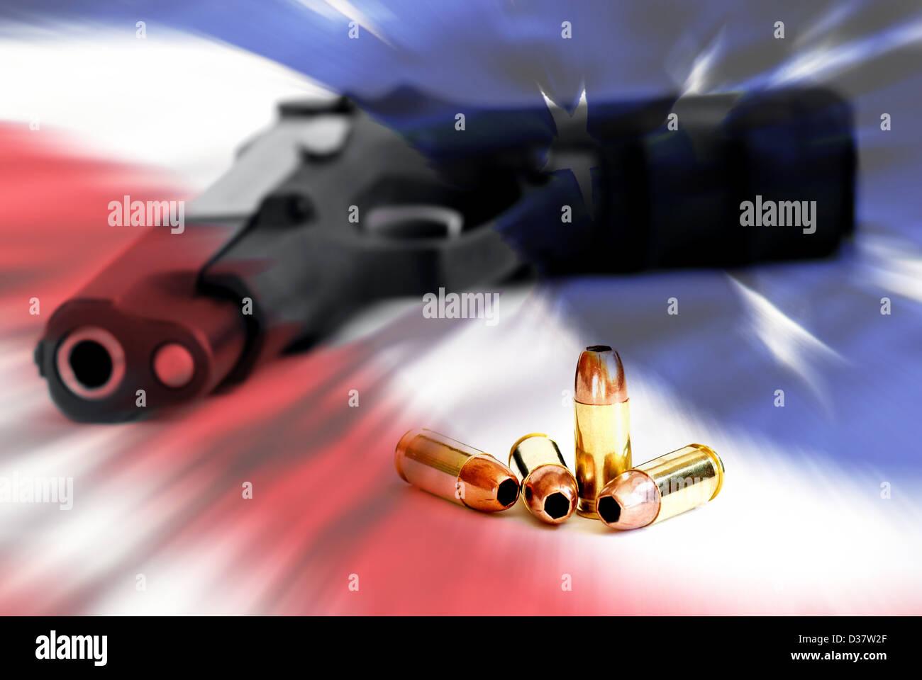 Amerikanisches Recht zu halten und Waffen tragen Stockbild