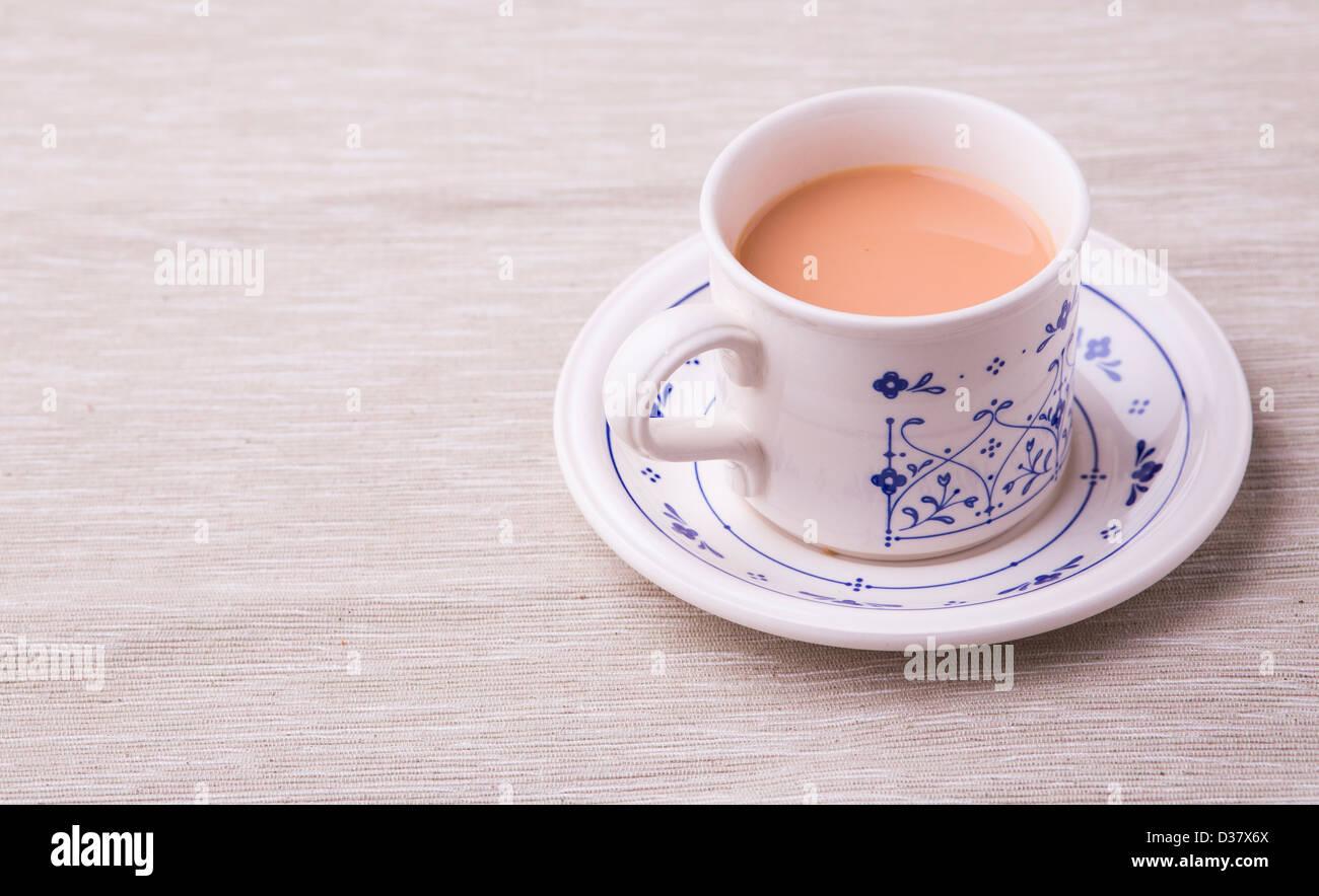 Tasse Roter Busch Rooibos Tee Mit Milch In Einem Vintage China