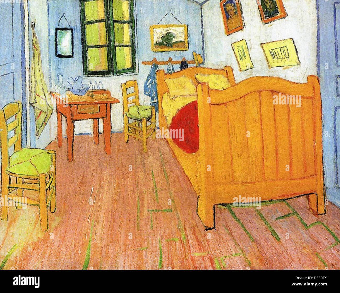 Vincent Van Gogh, Vincents Schlafzimmer in Arles. 1888. Post ...