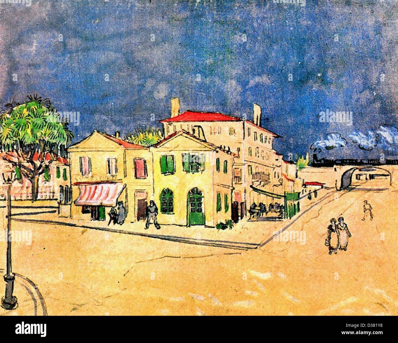 Vincent Van Gogh, Vincents Haus in Arles (das gelbe Haus ...