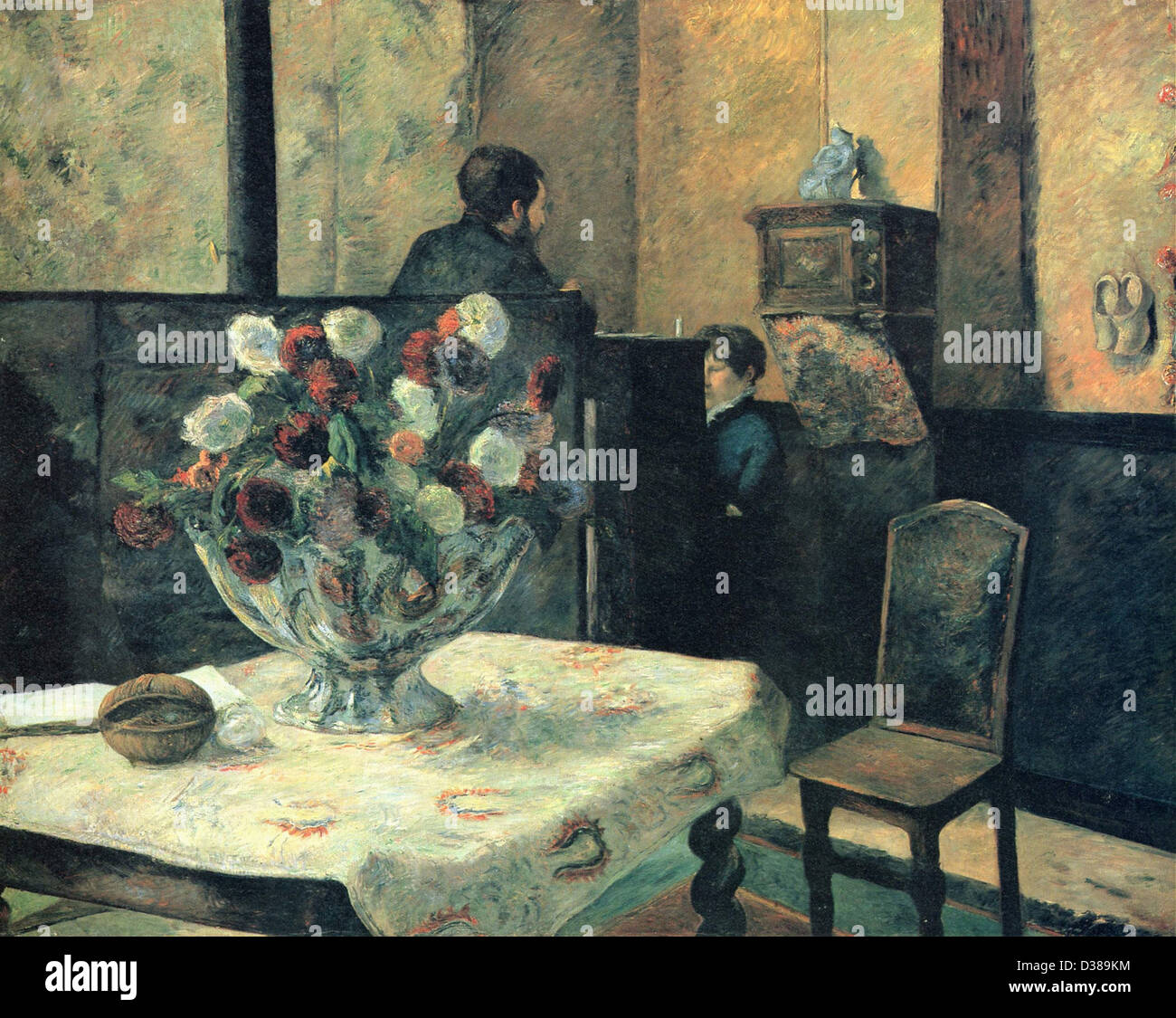 Paul Gauguin Interieur du Peintre Paris, rue Carcel 1881 Oslo, kann Stockbild