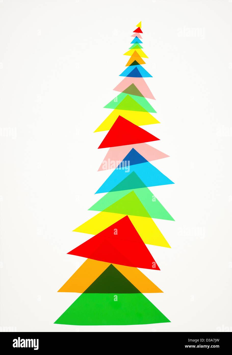 Abbildung von bunten Dreiecken Stockbild