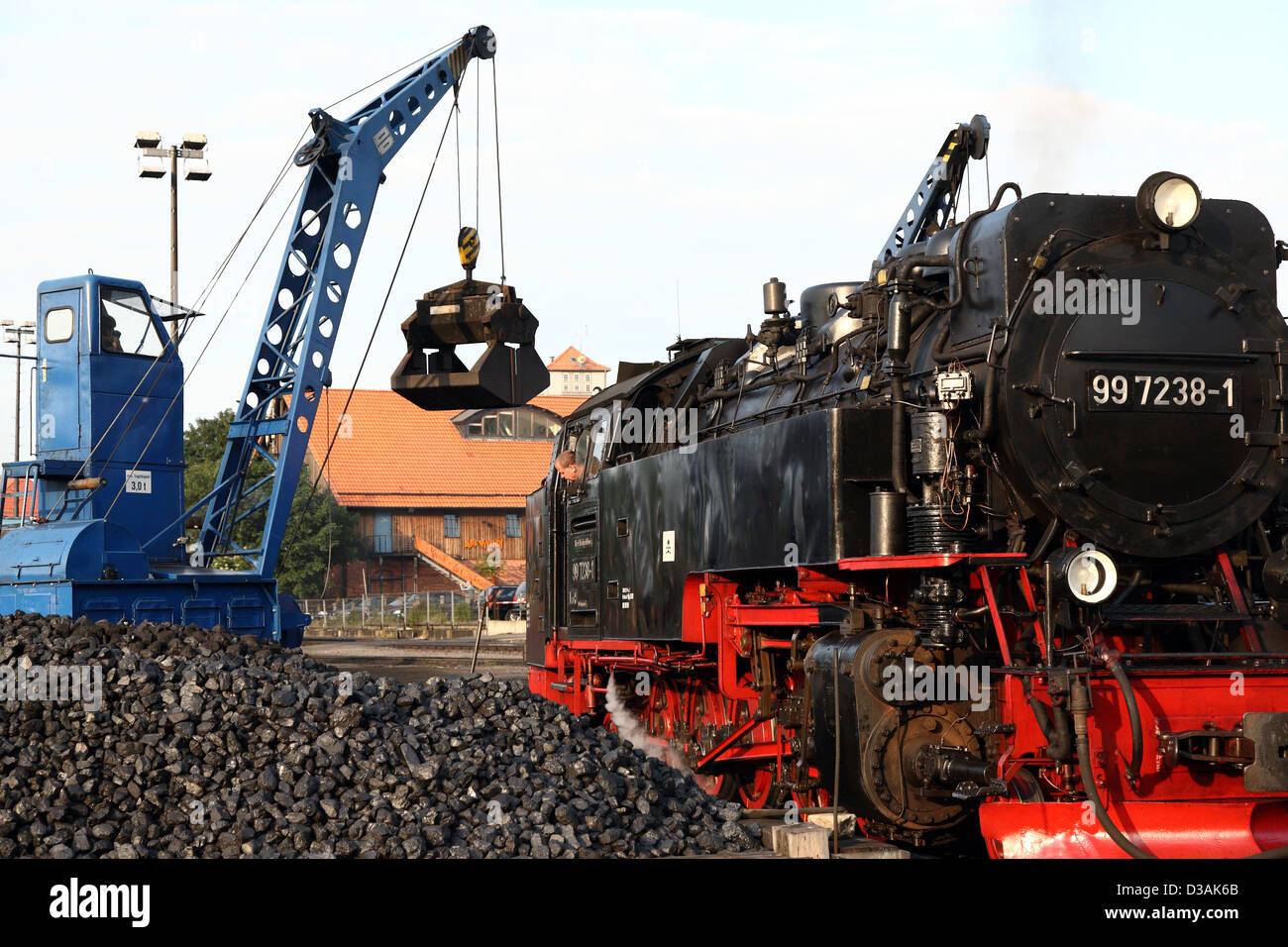 wernigerode deutschland eine lokomotive auf der kohle. Black Bedroom Furniture Sets. Home Design Ideas
