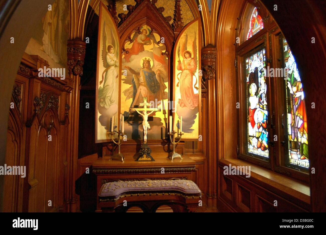Dpa) - ein Blick in das Oratorium in der märchenhaften Schloss ...