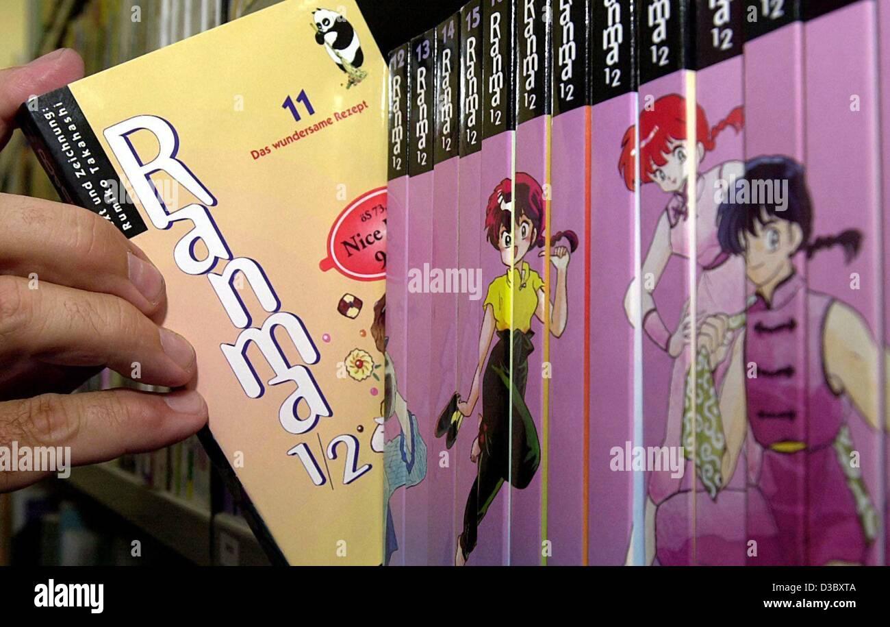 "(Dpa) - A Manga Comic mit dem Titel ""Ranma"" wird am Institut für Buch-Forschung an der Universität Stockbild"