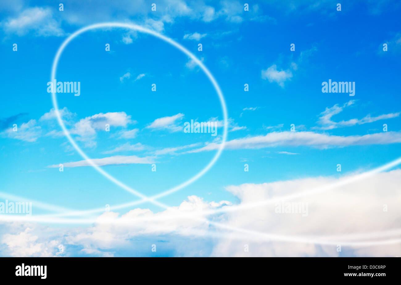 Himmel-Strudel Stockbild