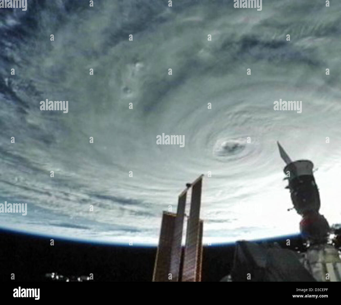 Hurrikan Danielle (NASA, internationale Raumstation Wissenschaft, 27.08.10) Stockbild