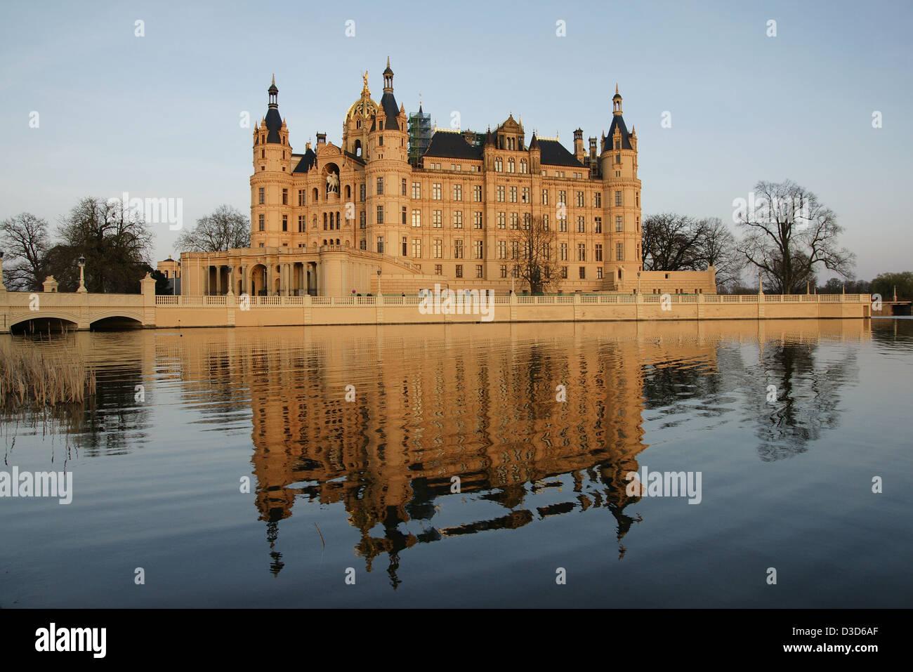 Schwerin, Deutschland, Schweriner Schloss Stockfoto