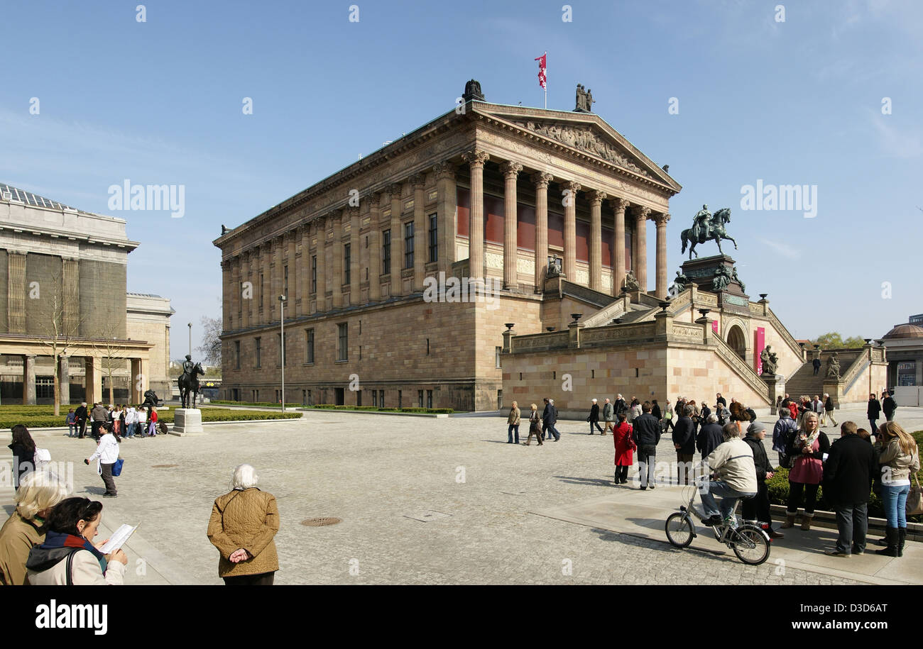 Berlin, Deutschland, die Alte Nationalgalerie auf der Museumsinsel Stockfoto