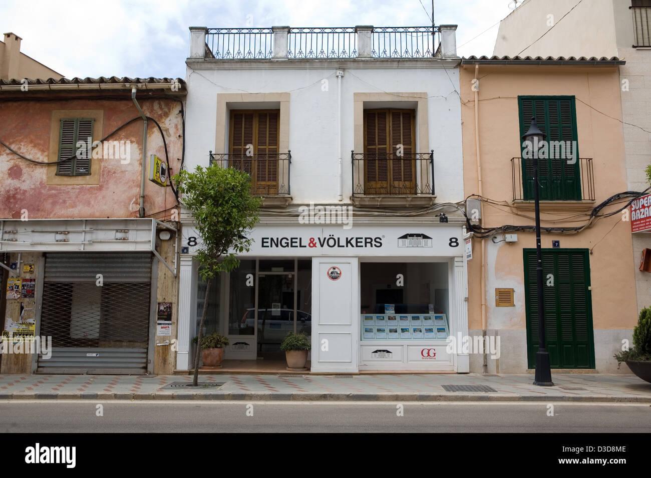 Santa Maria del Cami, Mallorca, Spanien, Tochtergesellschaft der Engel & Völkers Stockbild