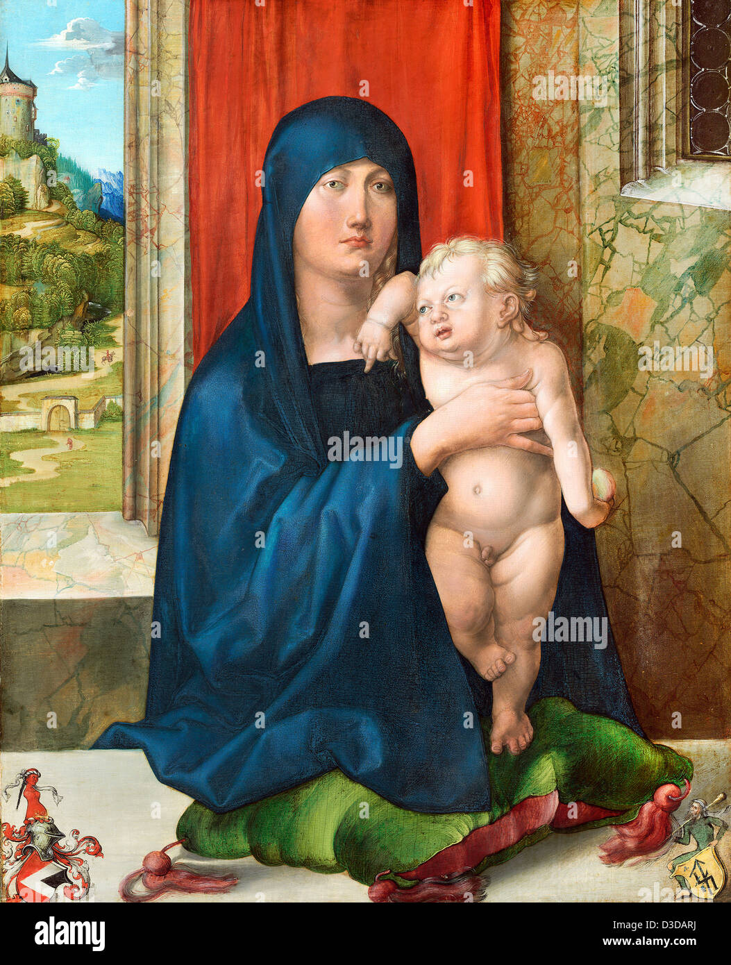 Albrecht Dürer, Madonna und Kind 1499 Öl auf Holz. National Gallery of Art, Washington Stockbild