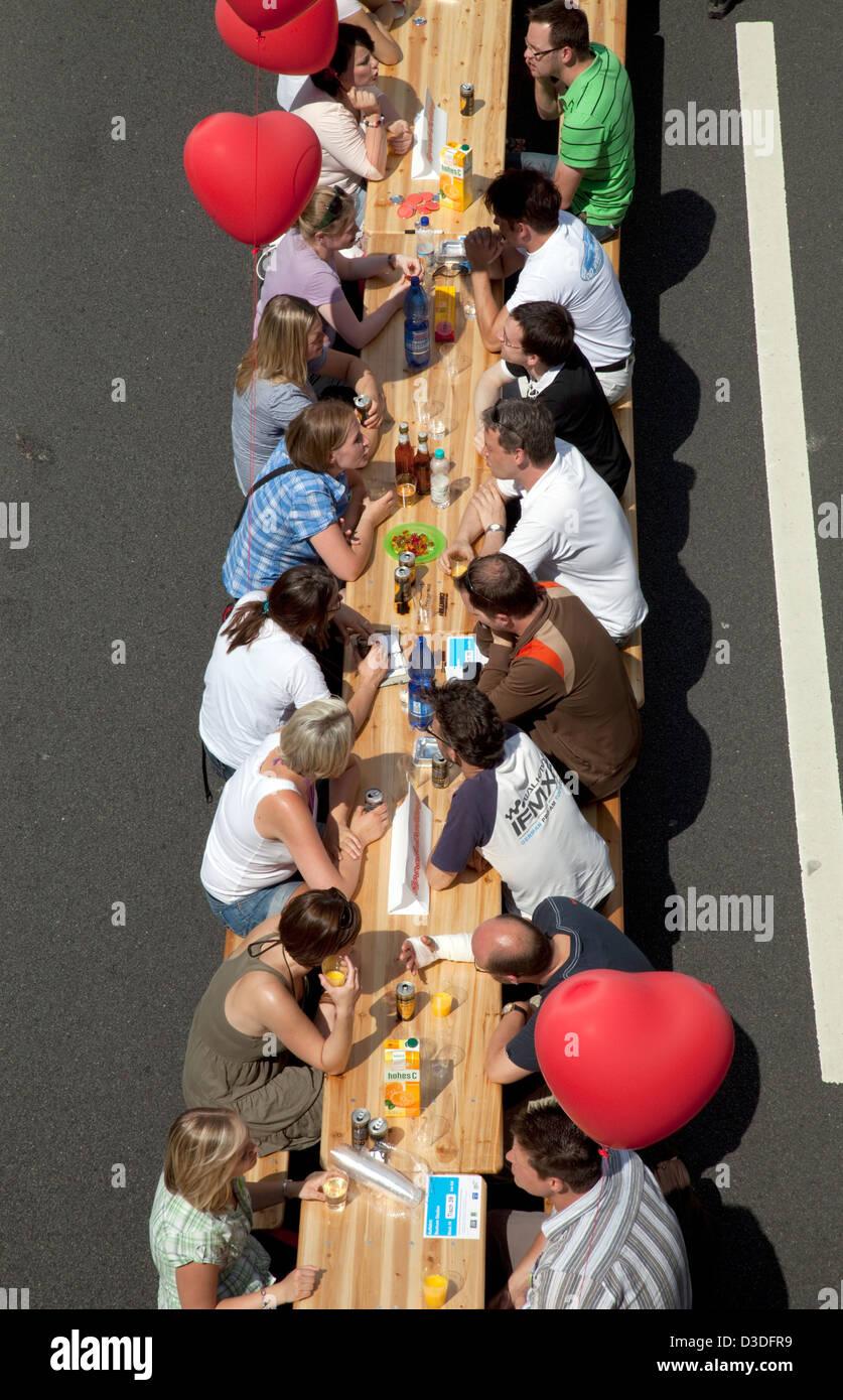 Bochum, Deutschland, Speed-Dating an der Still-Leben Ruhr Stockbild