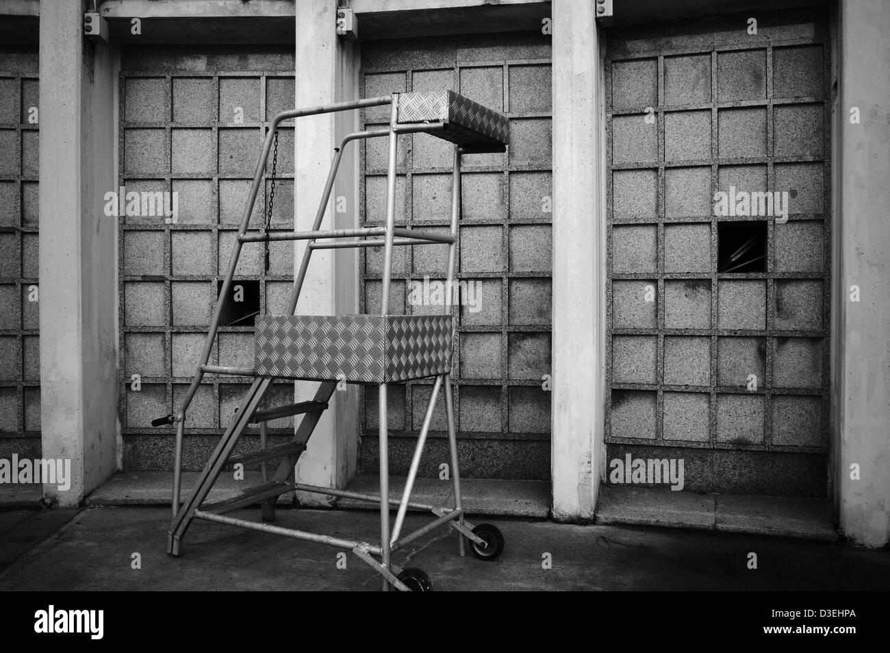 Beerdigung Zellen. Moderne Friedhof. Italien Stockbild