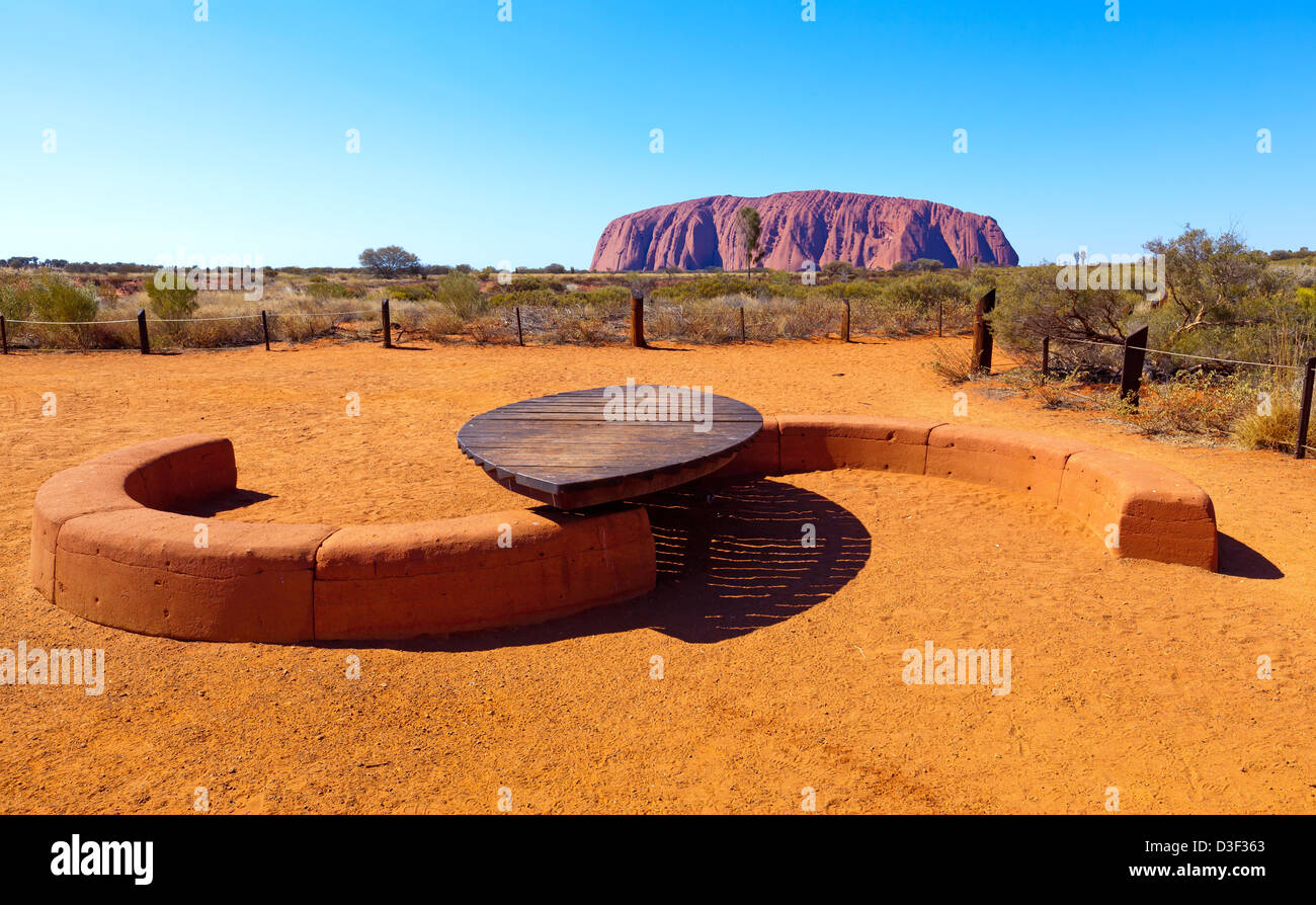 Ayers Rock Uluru Central Australia Northern Territory Stockbild