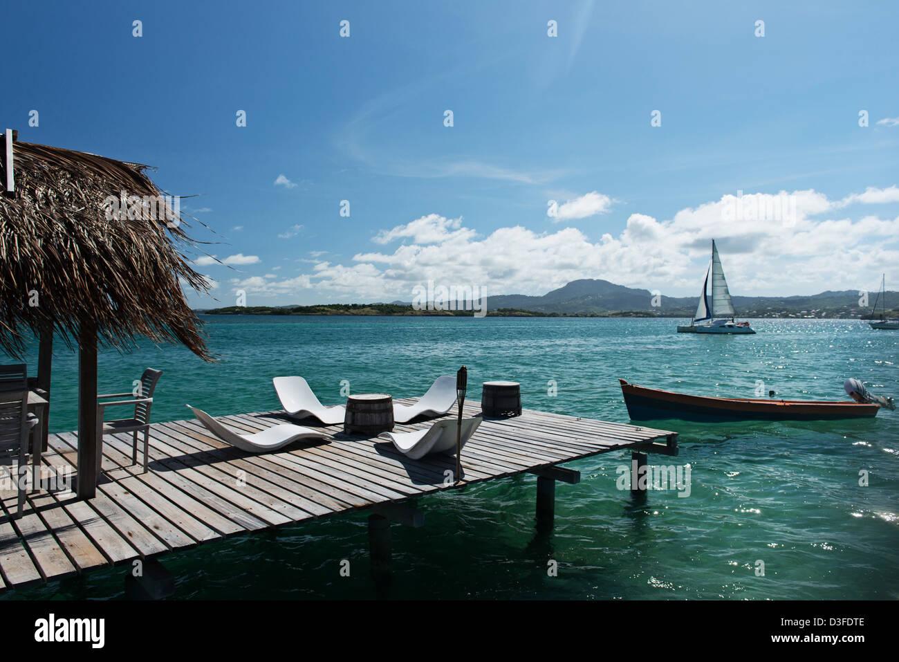 Ilet Oscar Insel Martinique, Karibik, Frankreich Stockbild