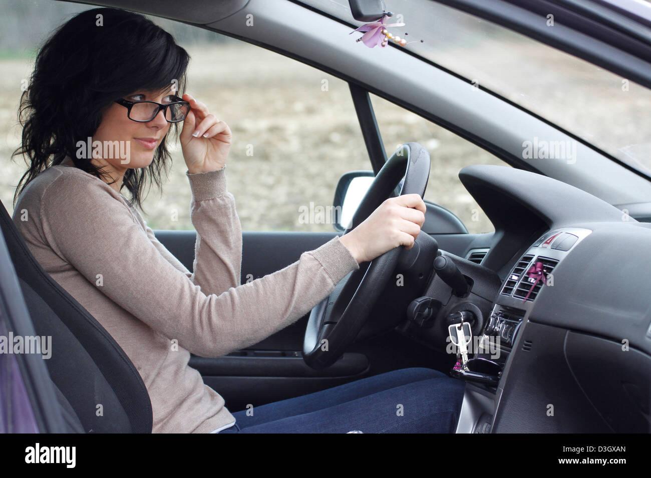 AUTOMOBIL-TREIBER Stockbild