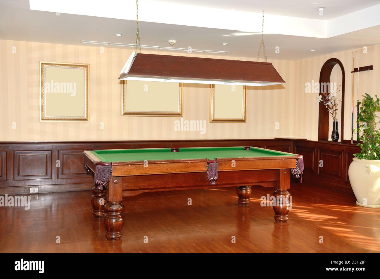 billard raum in der luxus hotel sharm el sheikh agypten stockbild