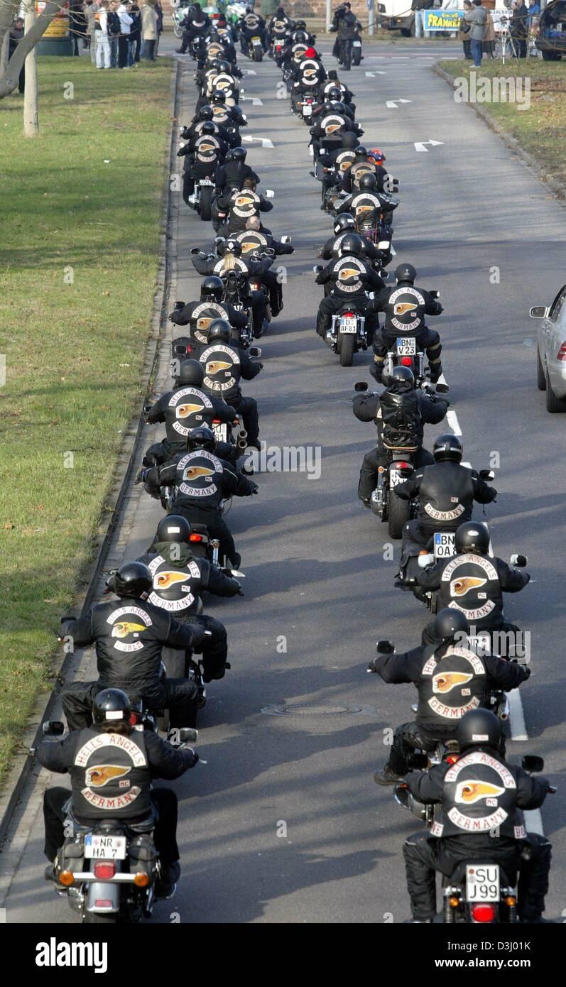(Dpa) - Mitglieder der Hells Angels Motorcycle Club
