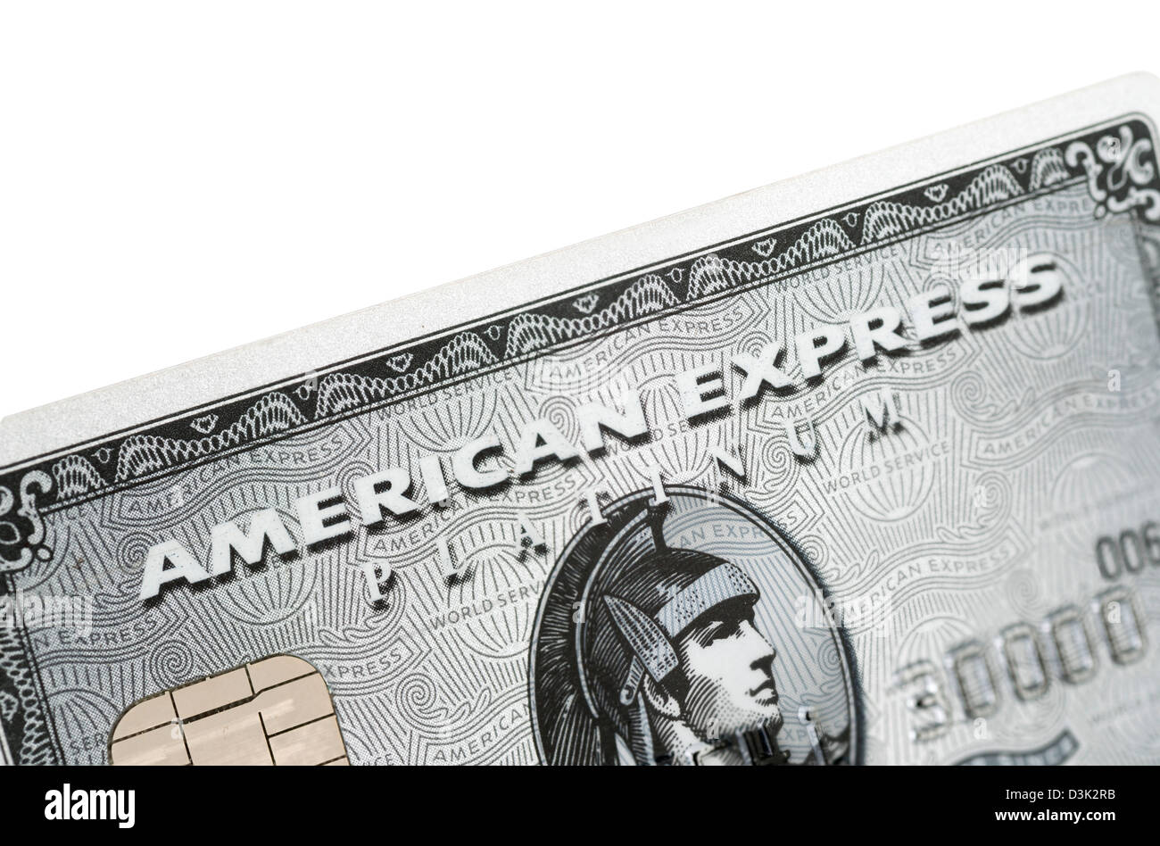 American Express Platinum Kreditkarte Stockbild