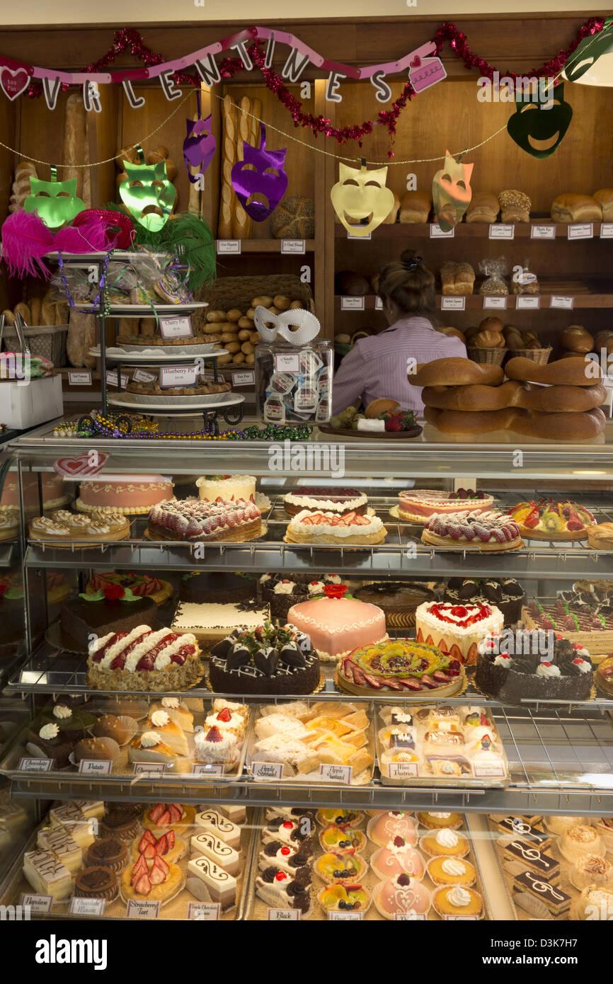 Kuchen Im Fall In French Bakery In Monterey Monterey Halbinsel Nördlichen  Zentralen Kalifornien USA