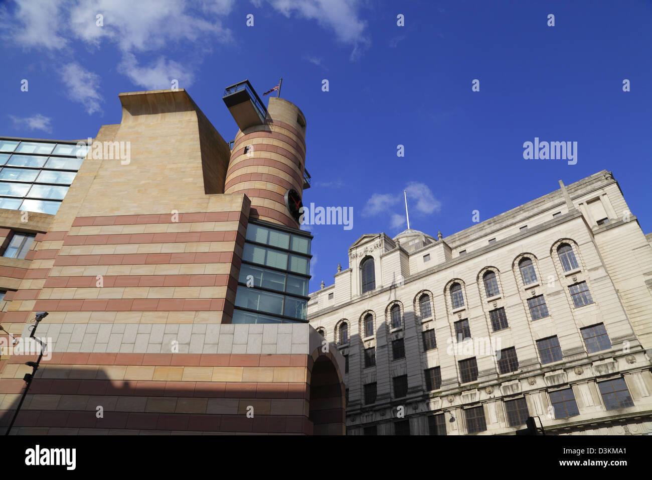 Architektur der Stadt, ein Geflügel Gebäude, City of London, England, UK, GB Stockbild