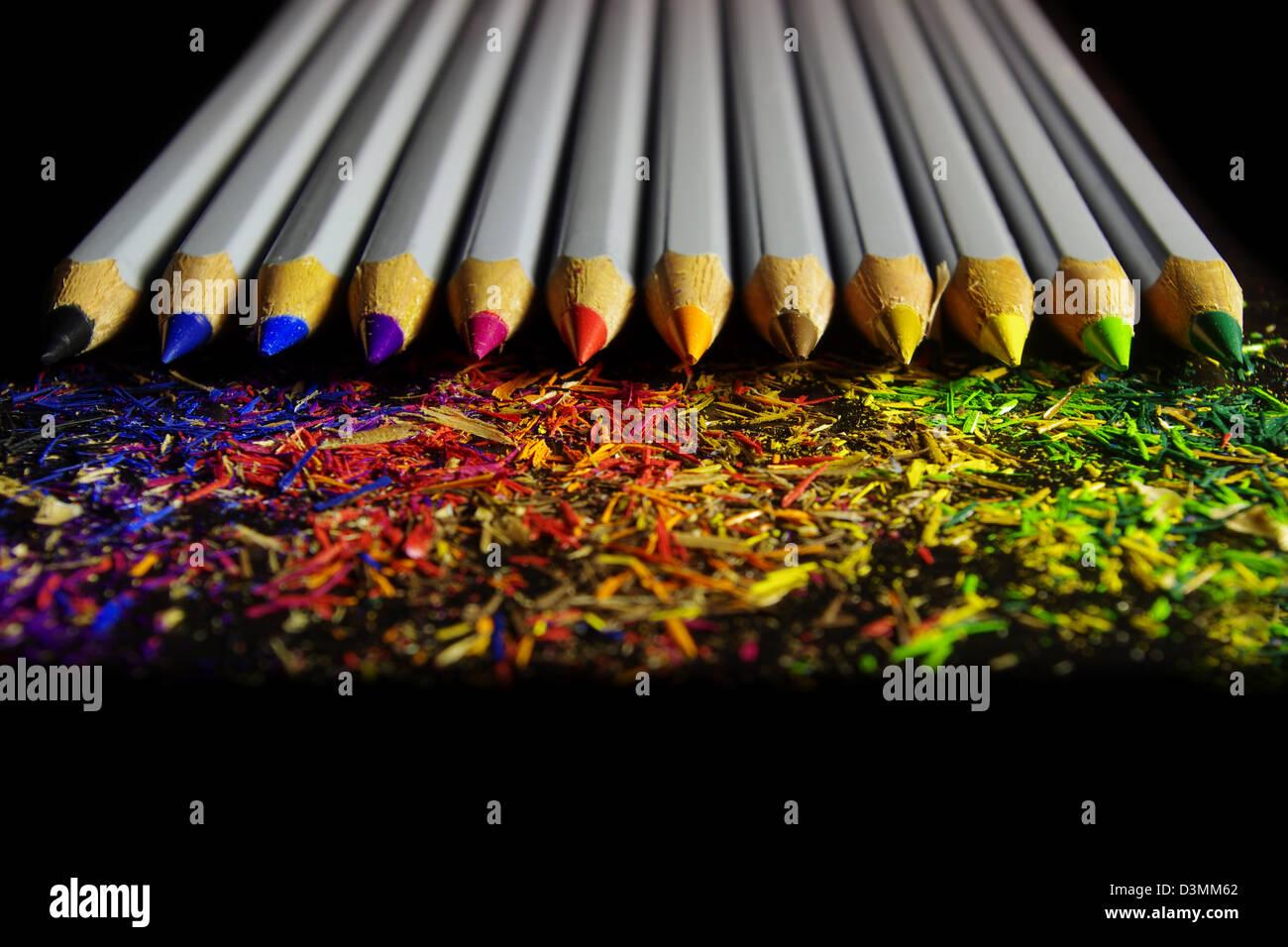 Black Pencil Shavings Stockfotos & Black Pencil Shavings Bilder - Alamy